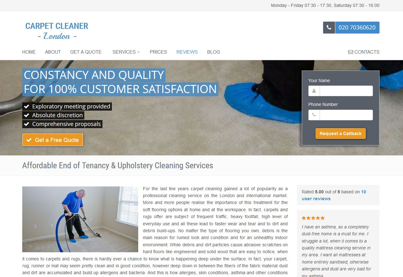 Carpet Cleaner London. Capture